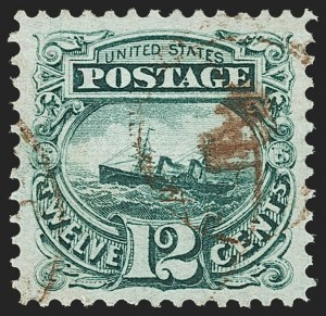 Sale Number 1162, Lot Number 210, 1869 Pictorial Issue (Scott 112-122)12c Green (117), 12c Green (117)