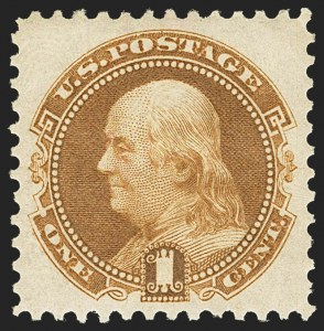 Sale Number 1162, Lot Number 224, 1875 Re-Issue of 1869 Pictorial Issue (Scott 123-133a)1c Buff, Re-Issue (123), 1c Buff, Re-Issue (123)