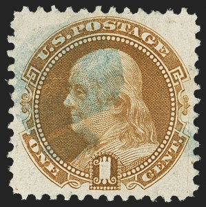 Sale Number 1162, Lot Number 225, 1875 Re-Issue of 1869 Pictorial Issue (Scott 123-133a)1c Buff, Re-Issue (123), 1c Buff, Re-Issue (123)