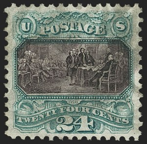Sale Number 1162, Lot Number 237, 1875 Re-Issue of 1869 Pictorial Issue (Scott 123-133a)24c Green & Violet, Re-Issue (130), 24c Green & Violet, Re-Issue (130)