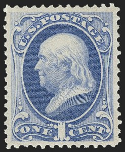 Sale Number 1162, Lot Number 245, 1870-71 National Bank Note Co. Grilled Issue (Scott 134-155)1c Ultramarine (145), 1c Ultramarine (145)