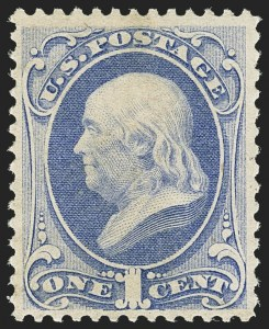 Sale Number 1162, Lot Number 246, 1870-71 National Bank Note Co. Grilled Issue (Scott 134-155)1c Ultramarine (145), 1c Ultramarine (145)