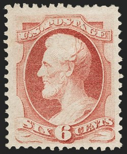 Sale Number 1162, Lot Number 248, 1870-71 National Bank Note Co. Grilled Issue (Scott 134-155)6c Carmine (148), 6c Carmine (148)