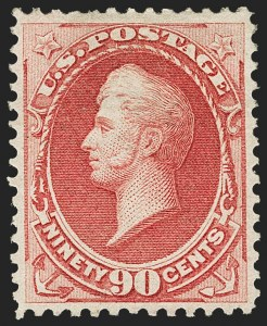 Sale Number 1162, Lot Number 270, 1873 Continental Bank Note Co. Issue (Scott 156-179)90c Rose Carmine (166), 90c Rose Carmine (166)
