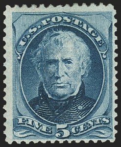 Sale Number 1162, Lot Number 277, 1873 Continental Bank Note Co. Issue (Scott 156-179)5c Blue, With Gill (179c), 5c Blue, With Gill (179c)