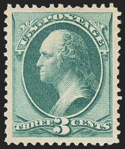 Sale Number 1162, Lot Number 279, 1879 American Bank Note Co. Issue (Scott 182-191)3c Green (184), 3c Green (184)