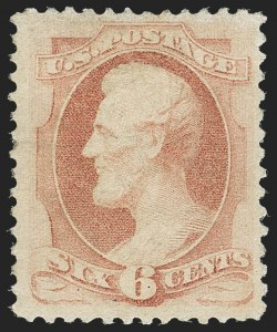 Sale Number 1162, Lot Number 281, 1879 American Bank Note Co. Issue (Scott 182-191)6c Pink (186), 6c Pink (186)
