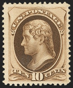 Sale Number 1162, Lot Number 282, 1879 American Bank Note Co. Issue (Scott 182-191)10c Brown, With Secret Mark (188), 10c Brown, With Secret Mark (188)