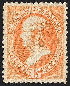 Sale Number 1162, Lot Number 284, 1879 American Bank Note Co. Issue (Scott 182-191)15c Red Orange (189), 15c Red Orange (189)