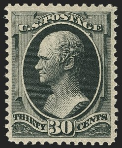 Sale Number 1162, Lot Number 285, 1879 American Bank Note Co. Issue (Scott 182-191)30c Full Black (190), 30c Full Black (190)