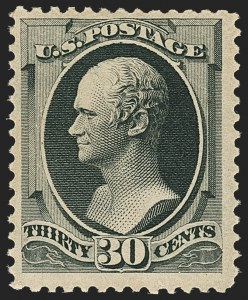 Sale Number 1162, Lot Number 286, 1879 American Bank Note Co. Issue (Scott 182-191)30c Full Black (190), 30c Full Black (190)