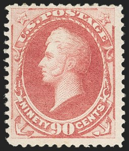 Sale Number 1162, Lot Number 288, 1879 American Bank Note Co. Issue (Scott 182-191)90c Carmine (191), 90c Carmine (191)