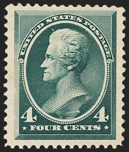 Sale Number 1162, Lot Number 294, 1881-83 American Bank Note Co. Issues (Scott 205-218)4c Blue Green (211), 4c Blue Green (211)