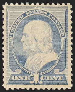 Sale Number 1162, Lot Number 295, 1881-83 American Bank Note Co. Issues (Scott 205-218)1c Ultramarine (212), 1c Ultramarine (212)