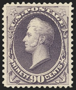 Sale Number 1162, Lot Number 300, 1881-83 American Bank Note Co. Issues (Scott 205-218)90c Purple (218), 90c Purple (218)