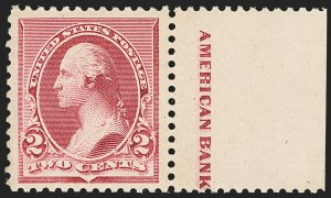 Sale Number 1162, Lot Number 302, 1890-93 Issue (Scott 219-229)2c Lake (219D), 2c Lake (219D)