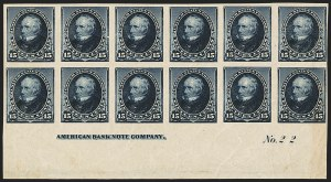 Sale Number 1162, Lot Number 313, 1890-93 Issue (Scott 219-229)15c Indigo, Imperforate (227a), 15c Indigo, Imperforate (227a)