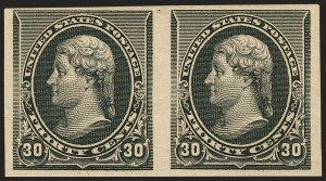 Sale Number 1162, Lot Number 315, 1890-93 Issue (Scott 219-229)30c Black, Imperforate (228a), 30c Black, Imperforate (228a)