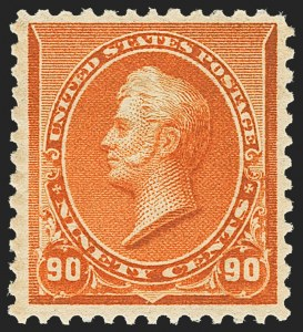 Sale Number 1162, Lot Number 316, 1890-93 Issue (Scott 219-229)90c Orange (229), 90c Orange (229)