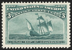 Sale Number 1162, Lot Number 319, 1893 Columbian Issue (Scott 230-245)3c Columbian (232), 3c Columbian (232)