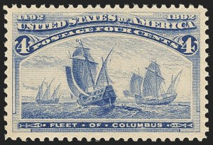 Sale Number 1162, Lot Number 320, 1893 Columbian Issue (Scott 230-245)4c Columbian (233), 4c Columbian (233)