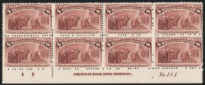 Sale Number 1162, Lot Number 322, 1893 Columbian Issue (Scott 230-245)8c Columbian (236), 8c Columbian (236)