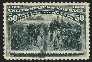 Sale Number 1162, Lot Number 330, 1893 Columbian Issue (Scott 230-245)50c Columbian (240), 50c Columbian (240)
