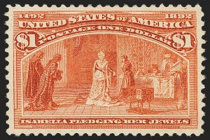 Sale Number 1162, Lot Number 331, 1893 Columbian Issue (Scott 230-245)$1.00 Columbian (241), $1.00 Columbian (241)
