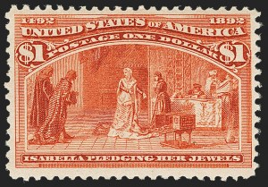 Sale Number 1162, Lot Number 335, 1893 Columbian Issue (Scott 230-245)$1.00 Columbian (241), $1.00 Columbian (241)
