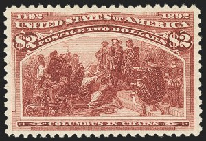 Sale Number 1162, Lot Number 336, 1893 Columbian Issue (Scott 230-245)$2.00 Columbian (242), $2.00 Columbian (242)