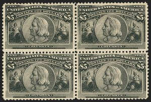 Sale Number 1162, Lot Number 346, 1893 Columbian Issue (Scott 230-245)$5.00 Columbian (245), $5.00 Columbian (245)