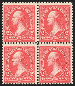Sale Number 1162, Lot Number 360, 1895 Watermarked Bureau Issue (Scott 264-278)2c Carmine, Ty. II-III (266-267), 2c Carmine, Ty. II-III (266-267)