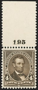 Sale Number 1162, Lot Number 361, 1895 Watermarked Bureau Issue (Scott 264-278)4c Dark Brown (269), 4c Dark Brown (269)