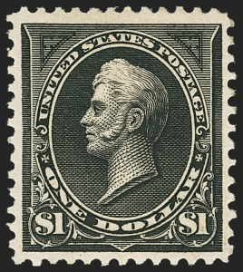 Sale Number 1162, Lot Number 367, 1895 Watermarked Bureau Issue (Scott 264-278)$1.00 Black, Ty. I (276), $1.00 Black, Ty. I (276)