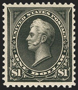 Sale Number 1162, Lot Number 369, 1895 Watermarked Bureau Issue (Scott 264-278)$1.00 Black, Ty. II (276A), $1.00 Black, Ty. II (276A)