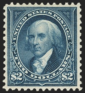 Sale Number 1162, Lot Number 370, 1895 Watermarked Bureau Issue (Scott 264-278)$2.00 Bright Blue (277), $2.00 Bright Blue (277)