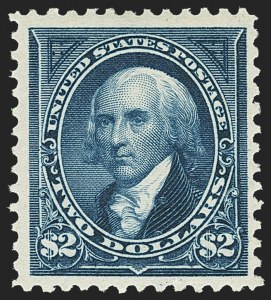 Sale Number 1162, Lot Number 371, 1895 Watermarked Bureau Issue (Scott 264-278)$2.00 Bright Blue (277), $2.00 Bright Blue (277)