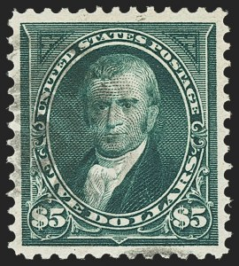 Sale Number 1162, Lot Number 376, 1895 Watermarked Bureau Issue (Scott 264-278)$5.00 Dark Green (278), $5.00 Dark Green (278)