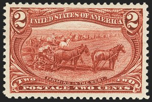 Sale Number 1162, Lot Number 382, 1898 Trans-Mississippi Issue (Scott 285-293)2c Trans-Mississippi (286), 2c Trans-Mississippi (286)