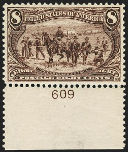 Sale Number 1162, Lot Number 385, 1898 Trans-Mississippi Issue (Scott 285-293)8c Trans-Mississippi (289), 8c Trans-Mississippi (289)