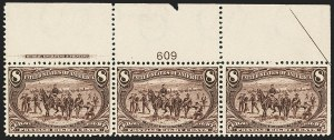 Sale Number 1162, Lot Number 386, 1898 Trans-Mississippi Issue (Scott 285-293)8c Trans-Mississippi (289), 8c Trans-Mississippi (289)