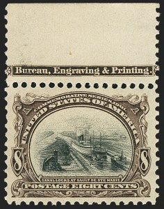 Sale Number 1162, Lot Number 410, 1901 Pan-American Issue (Scott 294-299)8c Pan-American (298), 8c Pan-American (298)