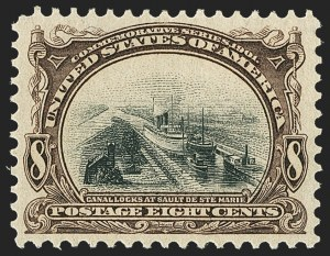 Sale Number 1162, Lot Number 411, 1901 Pan-American Issue (Scott 294-299)8c Pan-American (298), 8c Pan-American (298)