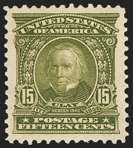 Sale Number 1162, Lot Number 421, 1902-08 Issues (Scott 300-320)15c Olive Green (309), 15c Olive Green (309)