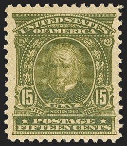 Sale Number 1162, Lot Number 422, 1902-08 Issues (Scott 300-320)15c Olive Green (309), 15c Olive Green (309)