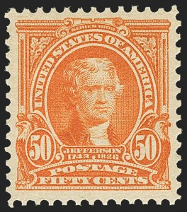 Sale Number 1162, Lot Number 423, 1902-08 Issues (Scott 300-320)50c Orange (310), 50c Orange (310)