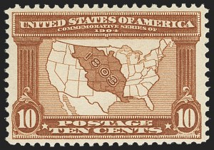 Sale Number 1162, Lot Number 446, 1904 Louisiana Purchase and Jamestown Issues (Scott 323-330)10c Louisiana Purchase (327), 10c Louisiana Purchase (327)