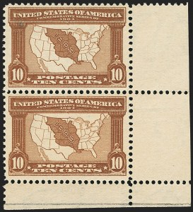 Sale Number 1162, Lot Number 447, 1904 Louisiana Purchase and Jamestown Issues (Scott 323-330)10c Louisiana Purchase (327), 10c Louisiana Purchase (327)