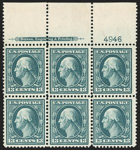 Sale Number 1162, Lot Number 452, 1908-10 Washington-Franklin Issues (Scott 331-356)13c Blue Green (339), 13c Blue Green (339)