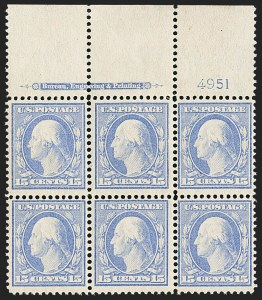 Sale Number 1162, Lot Number 453, 1908-10 Washington-Franklin Issues (Scott 331-356)15c Pale Ultramarine (340), 15c Pale Ultramarine (340)